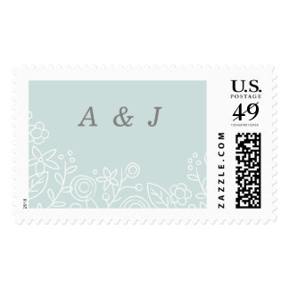 Plantation Postage Stamp - Aqua