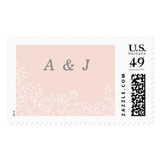 Plantation Postage Stamp - Peach