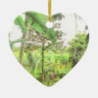 Plantations and greenery ceramic ornament