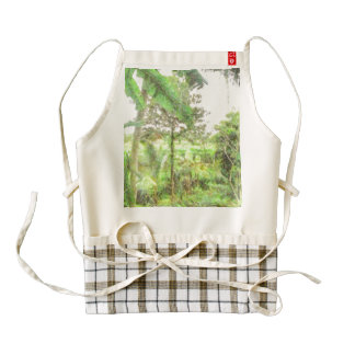 Plantations and greenery zazzle HEART apron