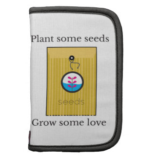Plante algunas semillas crecen alguno planificadores