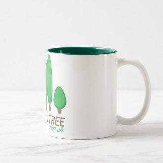 Plante un árbol - día del árbol tazas de café