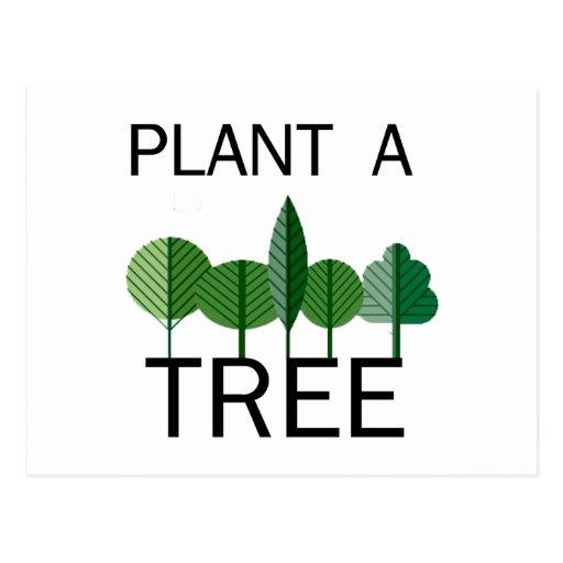 ¡Plante un árbol! ¡Diseños de la ecología! Postales