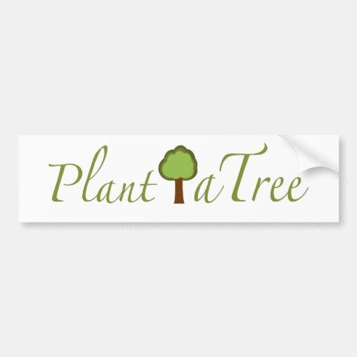 Plante un árbol etiqueta de parachoque