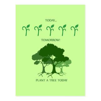Plante un árbol hoy postal