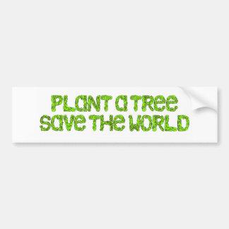 plante un árbol pegatina para auto