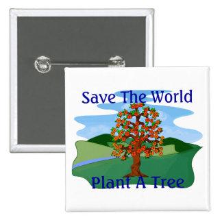 Plante un árbol pin cuadrado