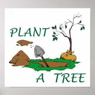 Plante un árbol póster