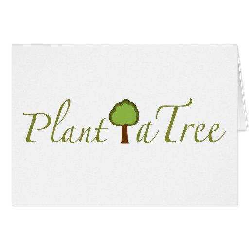 Plante un árbol tarjetón