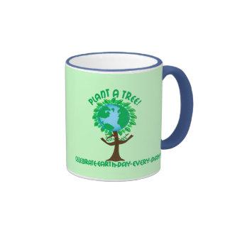 Plante un árbol tazas de café