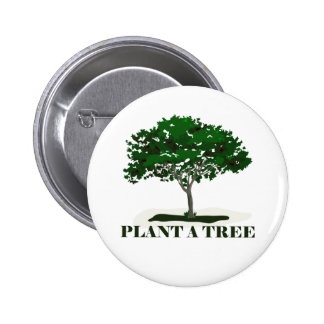 Plante un botón trasero del Pin del árbol
