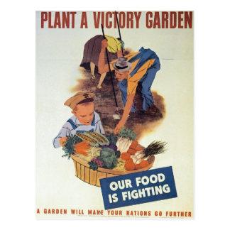 Plante un jardín de victoria postal