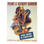Plante un jardín de victoria tarjetas postales
