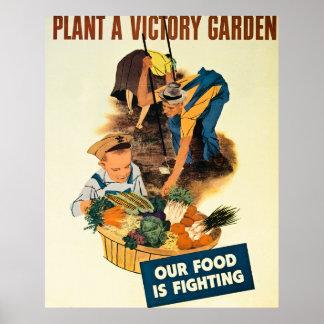 Plante un jardín de victoria - vintage WW2 Poster