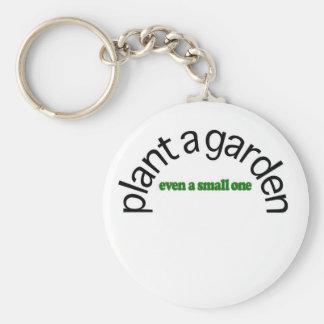 Plante un jardín llavero personalizado