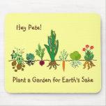 Plante un jardín para el cojín de ratón del motivo alfombrilla de raton