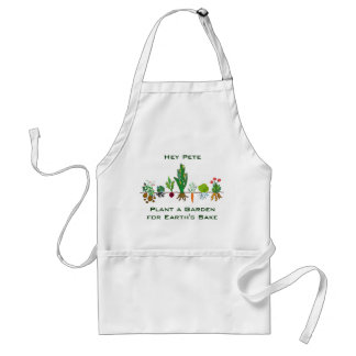 Plante un jardín para el motivo de las tierras delantal