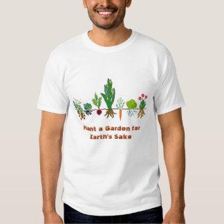 Plante un jardín para la camiseta de la fila del playera