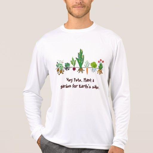 plante un jardín para la camiseta del motivo de la