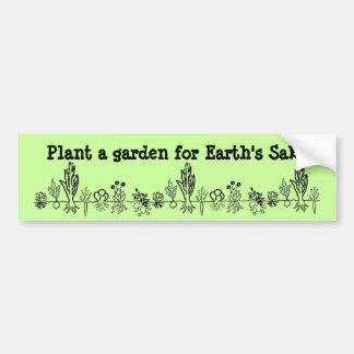 Plante un jardín para la pegatina para el parachoq pegatina para auto
