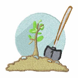 Plante un pecho del diseño del árbol que cultiva