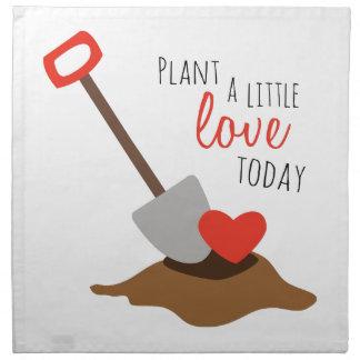 Plante un poco amor hoy servilletas de papel