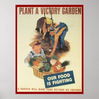 Plante un poster de WPA del jardín de victoria