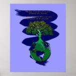 PLANTE un poster y un poema del arte del BOSQUE