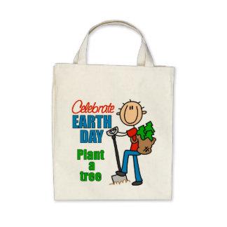 Plante una bolsa de asas orgánica del ultramarinos