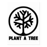 Plante una camiseta del árbol postales