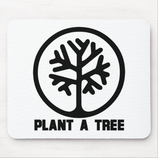 Plante una camiseta del árbol tapete de raton