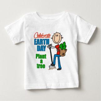 Plante una camiseta del bebé del árbol remera