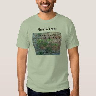 Plante una camiseta inglesa del proverbio del amor remera