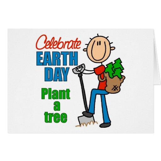 Plante una tarjeta de felicitación del árbol