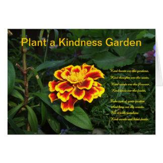 Plante una tarjeta del jardín de la amabilidad