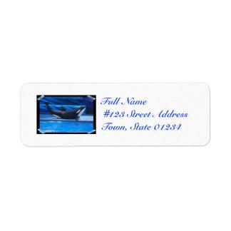 Planteamiento de etiquetas de correo de la orca etiquetas de remite