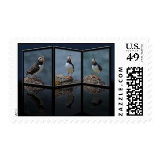 Planteamiento de franqueo del frailecillo sello postal