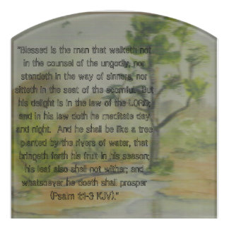 Planted by the Rivers of Water Room Sign Door Sign