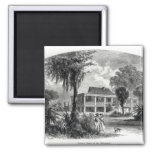 Planter's House on the Mississippi 2 Inch Square Magnet