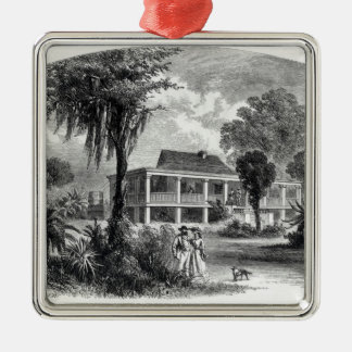 Planter's House on the Mississippi Metal Ornament