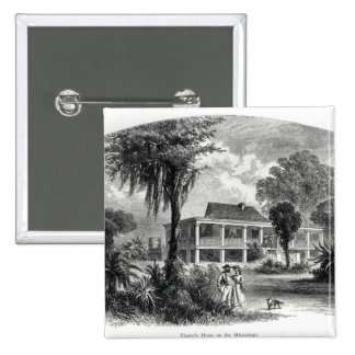 Planter's House on the Mississippi Pinback Button