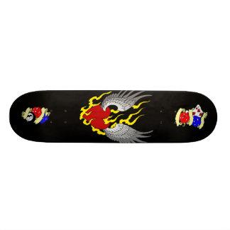 plantilla 2, corazón con alas, tatuaje-fla del mon patin personalizado