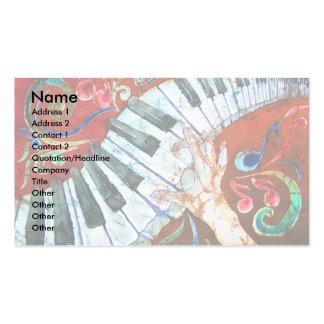 Plantilla 2 (luz) de la tarjeta de visita del pian