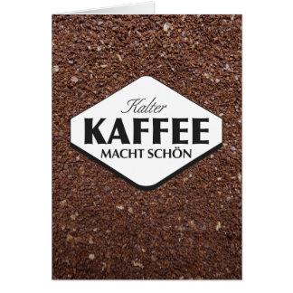 Plantilla 3 de la tarjeta de Kalter Kaffee Macht S