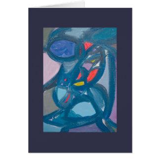 Plantilla abstracta intrépida de cuatro pinturas tarjeta de felicitación