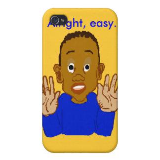 Plantilla aceptable del niño iPhone 4 protectores