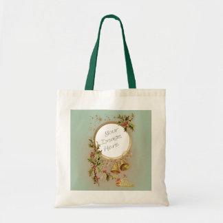 Plantilla adaptable de la foto del navidad del bolsas