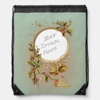 Plantilla adaptable de la foto del navidad del mochila