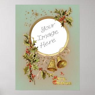 Plantilla adaptable de la foto del navidad del póster