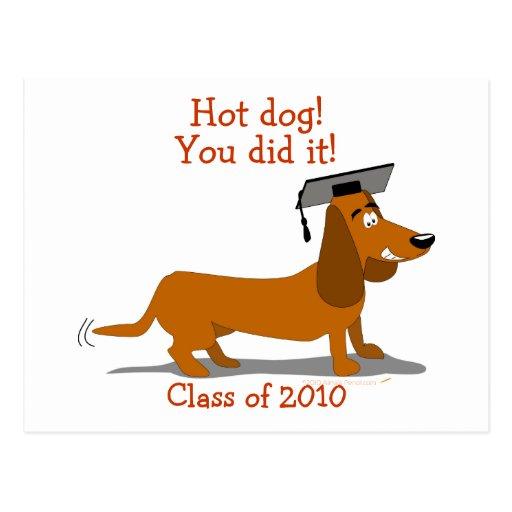 Plantilla adaptable de la graduación del perro del postal